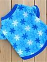 Коты Собаки Толстовка Синий Одежда для собак Зима Весна/осень Цветы На каждый день