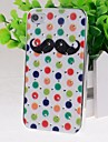 Cartoon Moustache Pattern Hard Case for iPhone 4/4S