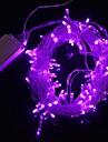 불에 9.6W 크리스마스 플래시 100 주도 보라색 빛 스트립 조명 램프 (EU 플러그, 교류 220V)