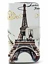 Para Capinha LG Porta-Cartao / Carteira / Com Suporte / Flip Capinha Corpo Inteiro Capinha Torre Eiffel Rigida Couro PU LG LG L70