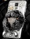 Luxury Fashion Real Rex Rabbit Fur 3D Crystal Diamond Fox Bling Case for Samsung Galaxy Note 4 IV N9100