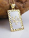 Jewelry Pendant Necklaces Wedding / Party / Daily / Casual / Sports Gold Plated Women Gold Wedding Gifts