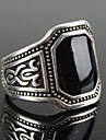 Z&X®  European Style Square Black Gem Men's Statement Ring Christmas Gifts