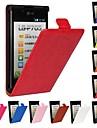 Clapet ouvert grain de cheval en cuir PU etui de tout le corps pour LG Optimus L7 P700 / P705 (couleurs assorties)