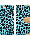 Leopard Pattern Rhinestone Decorated Faux Leather Flip Case with Mount Stand  for iPhone6(Assorted Colors)