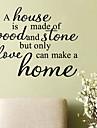 jiubai® домой цитата наклейки наклейки на стены, 58см * 47см
