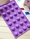 24 отверстий в форме полукруга формы торт