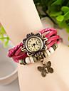 Wanbao женская мода ткать часы браслет