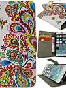 Para Capinha iPhone 6 / Capinha iPhone 6 Plus Carteira / Porta-Cartao / Com Suporte / Magnetica / Estampada Capinha Corpo Inteiro Capinha