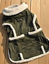 Cat Dog Coat Vest Dog Clothes Casual/Daily Solid Green