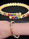filles u7® mignon bracelets colores marque en or 18 carats / platine plaque autrichienne strass brassard bijoux bracelet