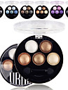 5 Colors UBUB Eyeshadow Palette Professional Baked 3in1 Matte&Glitter&Shimmer Metallic Color Eye Shadow Powder Cosmetic Palette