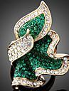 Массивные кольца Сплав Имитация Алмазный Мода Изумрудный Пурпурный Светло-синий Бижутерия Для вечеринок 1шт