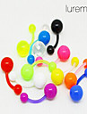 Lureme®Colorful Acrylic Navel/Ear Piercing(Random Color)