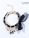 Women\'s Bowknot Chiffon Elephant Pendant Alloy Bracelet