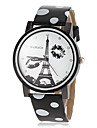 Women\'s Eiffel Tower Pattern Dial PU Band Quartz Wrist Watch (Assorted Colors) Cool Watches Unique Watches Strap Watch