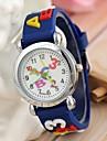 modele de lettre le bleu montre-bracelet bracelet en silicone de quartz pour les enfants (1pc)