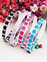 Dog Collar Adjustable/Retractable / Sequins / Heart Shaped / With Bell Black / Blue / Rose PU Leather