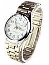 Men's Florescence Round Dial Alloy Band Quartz Analog Wrist Watch (Assorted Colors) Cool Watch Unique Watch