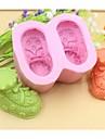 sapatos de bebe em forma de ferramentas bolo fondant de chocolate bolo de silicone molde de decoracao, l8.5cm * * w7.2cm h4.5cm