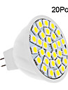 2W GU5.3(MR16) LED Spotlight 30 SMD 5050 150-200 lm Warm White/ Cool White DC12V 20pcs
