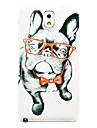 motif de chien lunettes mince couverture de cas dur pour Samsung Galaxy Note 3