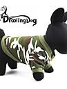 katten / honden Hoodies / Kleding / Kleding Rood / Groen Lente/Herfst camouflage