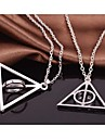 Harry Potter Luna Lovegood Resurrection Stone Rotatable Alloy Movie Pendant Necklace(1 Pc)