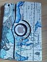 mini-carte du monde motif PU cas de corps entier de haute qualite avec roation 360 degres pour les mini ipad (couleurs assorties)