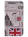 Для Кейс для  Samsung Galaxy Бумажник для карт / Кошелек / со стендом / Флип / С узором Кейс для Чехол Кейс для Панорама города