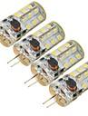 5W G4 LED лампы типа Корн 27 SMD 2835 300 lm Холодный белый Декоративная DC 12 / AC 12 V 4 шт.