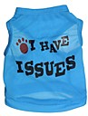 Cat / Dog Shirt / T-Shirt Blue Spring/Fall Letter & Number