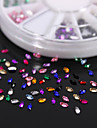 600PCS Colorful Marquis Zirconia Flatback Acrylic Gems Handmade DIY Craft Material