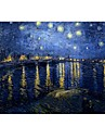 """Case for Macbook Air 11.6""""/13.3"""" Oil Painting Plastic Material Starry Night by Vincent Van Gogh Design Full Body Case"""