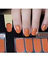 14pcs Pure Color Nail Art Наклейки mdp1046