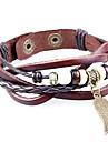 Homme Femme Couple Bracelets Vintage Bracelets en cuir Bracelets de rive Bracelets de tennis Bracelets d\'amitie BraceletsCuir Bois