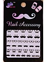 1PCS Cartoon Mustache Style Nail Art Stickers MZ Series MZ-W04