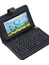 """7"""" Protective Leather Tablet USB Keyboard Case"""