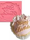 С Днем Рождения форме помады торт шоколадный силиконовые формы, кекс украшения инструменты, l7.3cm * w5.6cm * h0.7cm