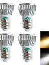 Zweihnder W089 E27 3W 280LM 3000/6000K 3xLEDs Cool/Warm White Spotlight  (AC 100-240V,4Pcs)