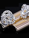Stud Earrings Rhinestone Alloy Fashion Jewelry Daily 2pcs