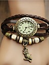 Women's Watch Bohemian Owl Pendant Leather Band Bracelet (Assorted Colors) Cool Watches Unique Watches