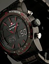 Men's Full Steel Sport Watch Japanese Quartz Analog-Digital LED/LCD/Multifunctional/Water Resistant/Alarm Military Clock Cool Watch Unique Watch