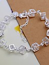 925 Silver Cube Zircon Charm Bracelet (1PC) Christmas Gifts