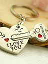 Romantic Wedding Key Ring Keychain for Lover Valentine\'s Day(One Pair)