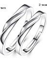 Кольца Свадьба / Для вечеринок / Повседневные Бижутерия Стерлинговое серебро Женский / Мужчины / Пара Кольца для пар 1шт,Регулируется