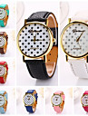 Women  Dots Printing  Pu Leather  Brand Luxury Lady Bracket Dress Wristwatch (Assorted Colors)C&D-205 Cool Watches Unique Watches
