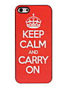 Keep Calm and Carry On Design Aluminum Hard Case for iPhone 4/4S