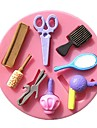 Comb Mirror Blower Makeup Tools Fondant Cake Molds Chocolate Mould