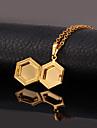Золотой Медальоны Ожерелья Медь / Позолота Свадьба Бижутерия